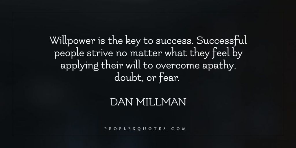 Will power successful quotes