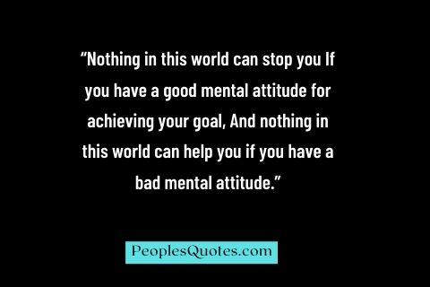 Attitude Positive Quotes in English