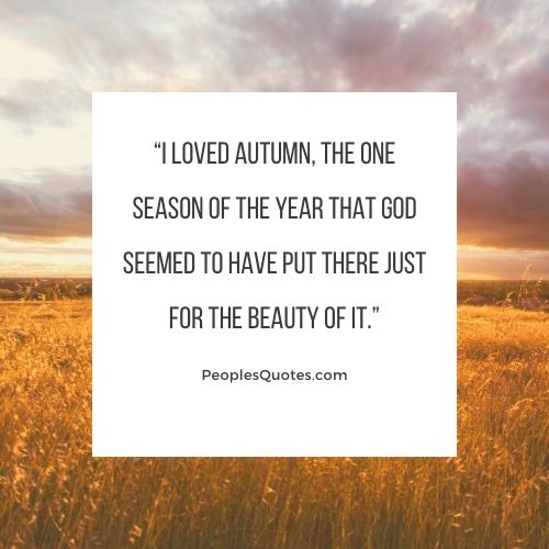 I love autumn quotes