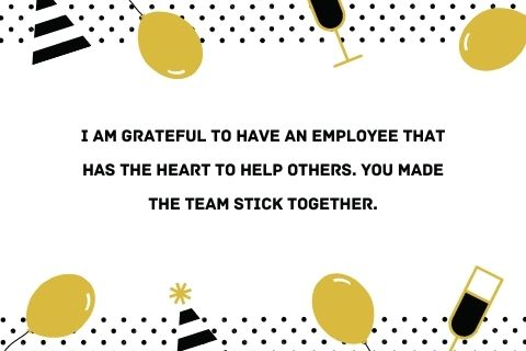 appreciation words for team work