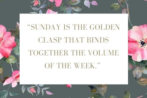 Sunday be blessed quotes in English