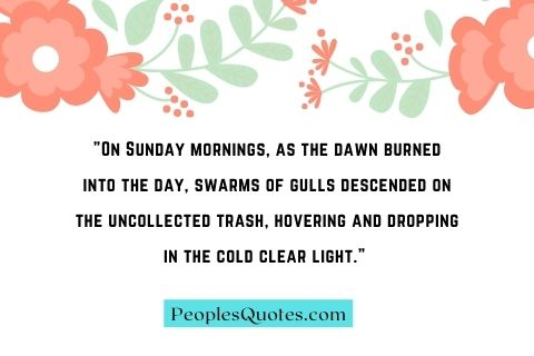 Good morning Sunday Quotes in English