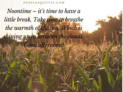 Good Afternoon blessings quotes