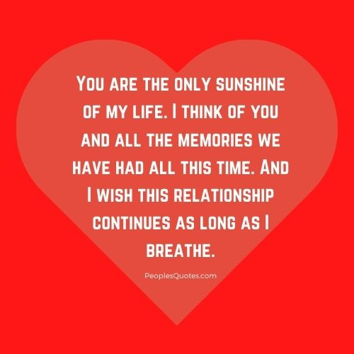You are my sunshine quotes for Girlfriend