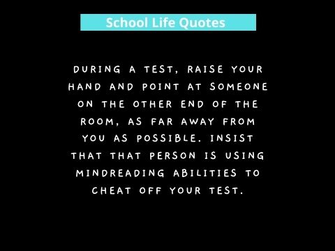 Funny School Quotes to Remember Study Life