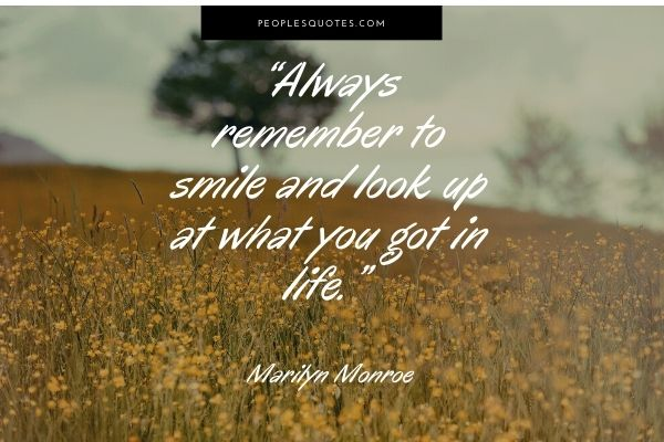 Marilyn Monroe Quotes on Smiling