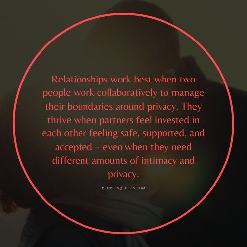 Quotes about Privacy in Relationship