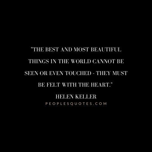 Helen Keller Love Quotes