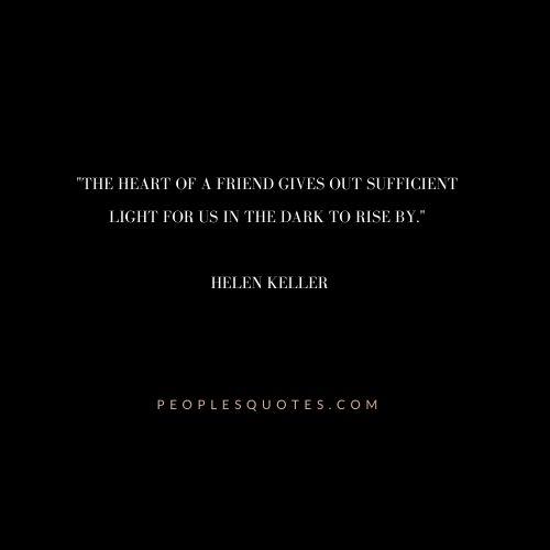 Helen Keller Quotes on Friends