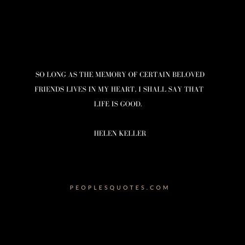 Helen Keller Quotes about Friends