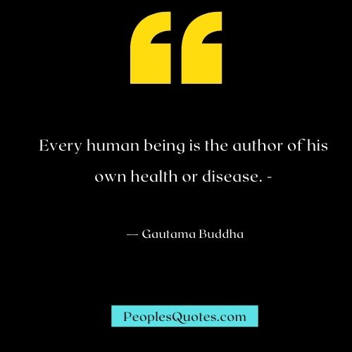 Buddha's Health Quotes to inspire you