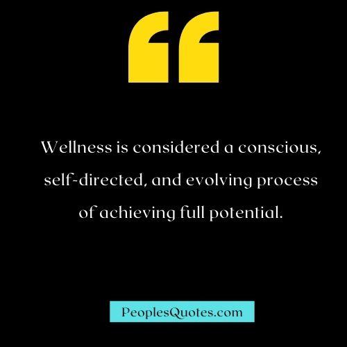 Wellness quote image