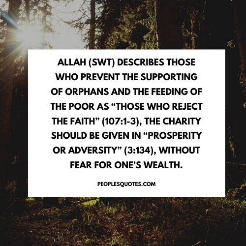 quotes on charity in Islam