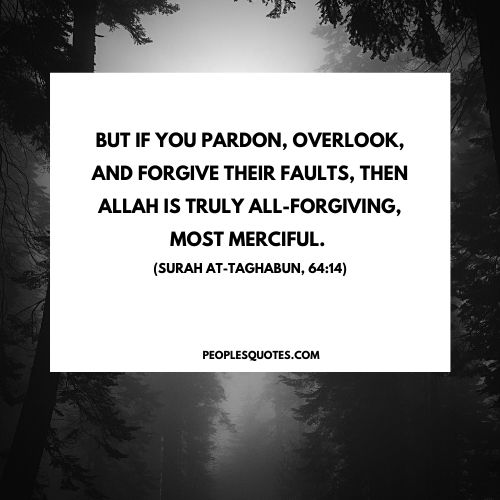what does the quran say about forgiveness