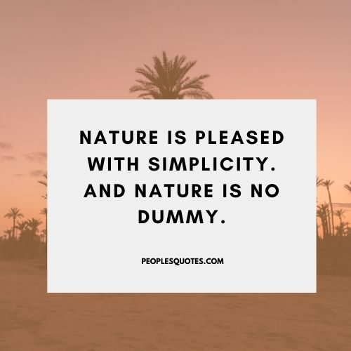 Mother nature quote