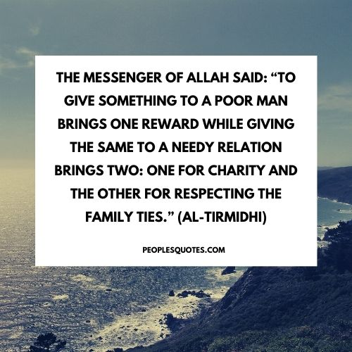 Islam about giving charity
