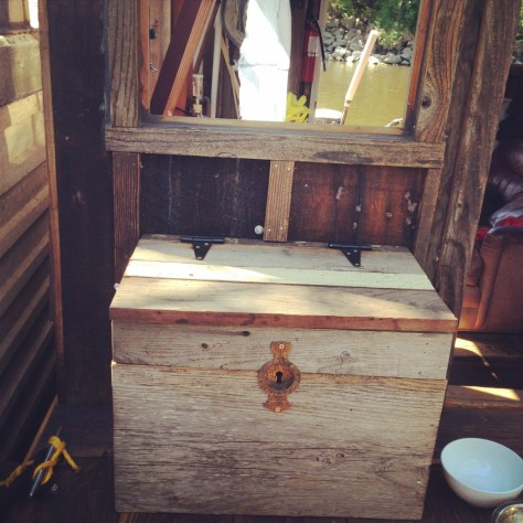 """The """"hope chest"""" filled with our life vests. We hope we don't have to use it."""