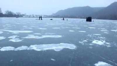Ice Fishing on Lake Winona