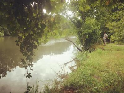 Beautiful Indian Creek in Triana Alabama heavily polluted with DDT from the Redstone Arsenal