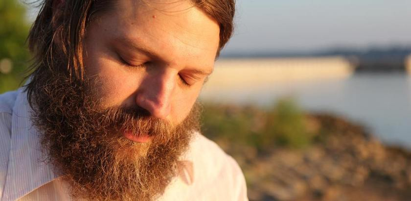 Nathan Blake Lynn, musician, historian, and amateur folk musicologist. Interview at Paducah riverfront at dawn