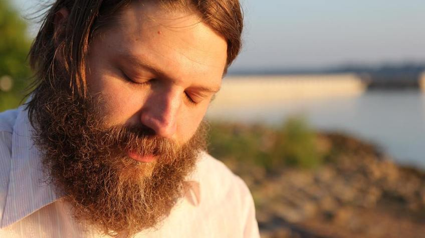 Nathan Blake Lynn, musician, historian, and amateur folk musicologist. Interview at Paducah riverfront at dawn