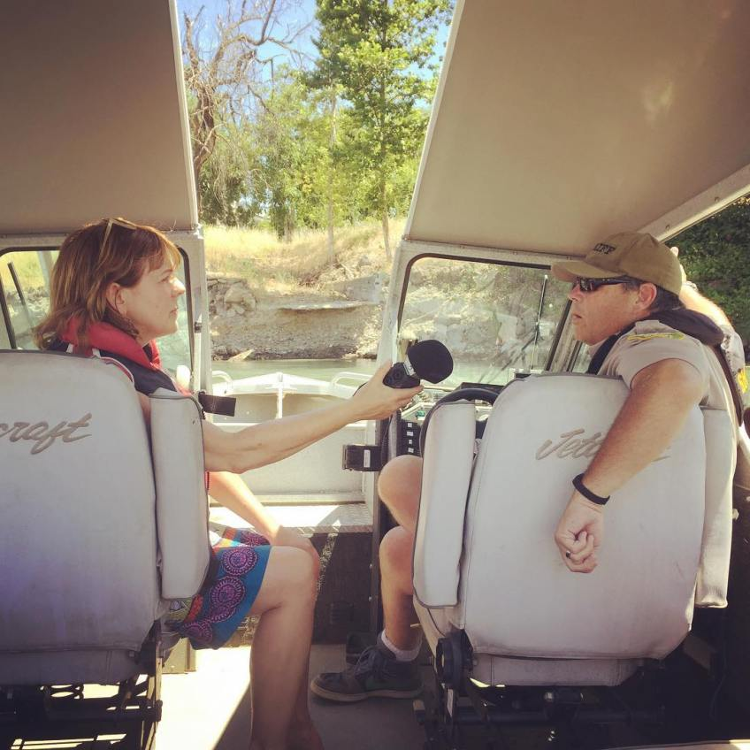 Sara Jane Hall interviews Sheriff Chad about Red Bluff history