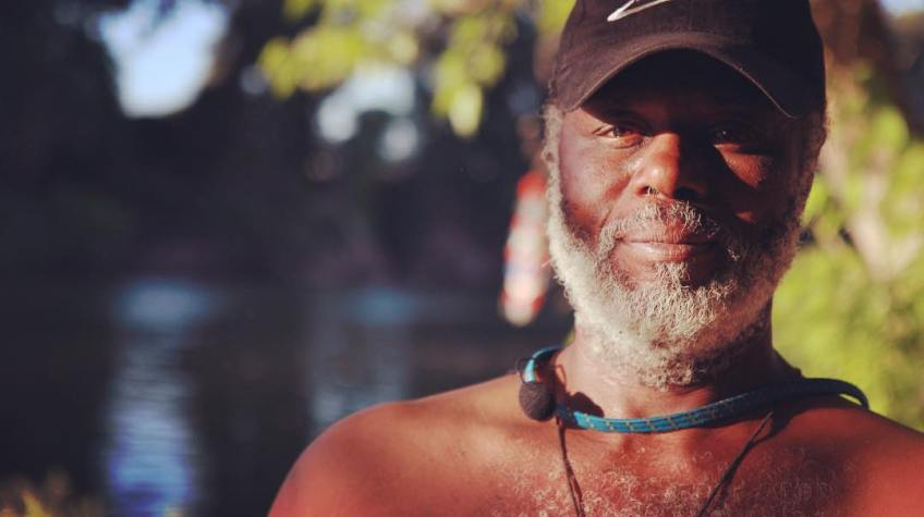 "Bar camping out for 25 years, currently along the American River serves as a mentor to younger folk and describes himself as an ""honest hustler"