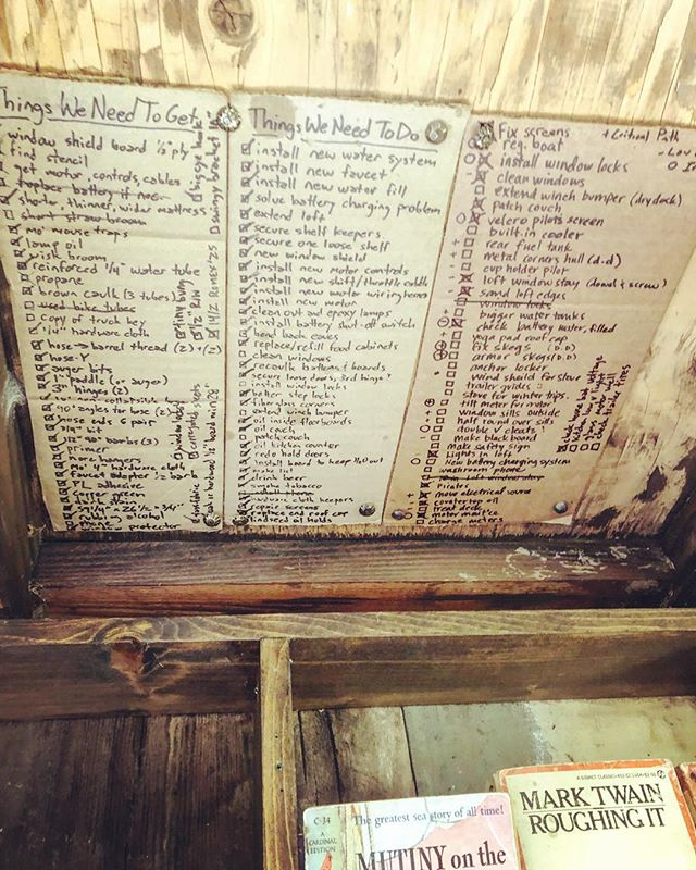 The shantyboat library of ToDo Lists Past