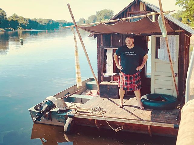 Proud captain of the Shantyboat Dotty @originalsportkilt