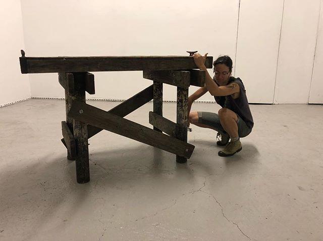 Assembling the pier at WhiteBox. #artshow #exhibition #secrethistory