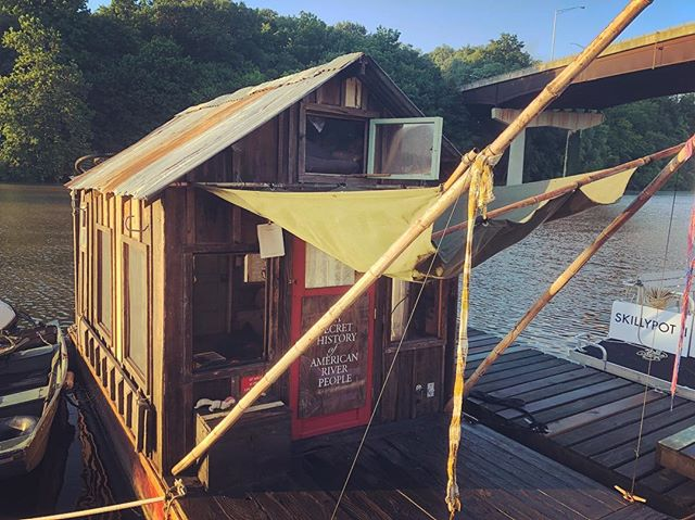 Looks like rain destroyed our canopy (and our bamboo poles) while we were in the city. #shantyboat #theWeatherStrikesBack