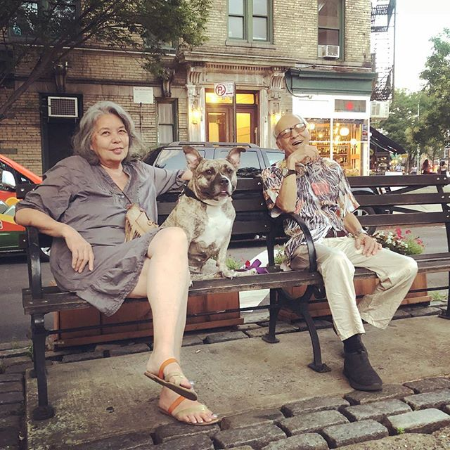 Josephine, Bella and Eric in the West Village who used to live in California and have traveled everywhere #WestVillage #Manhattan #NYC