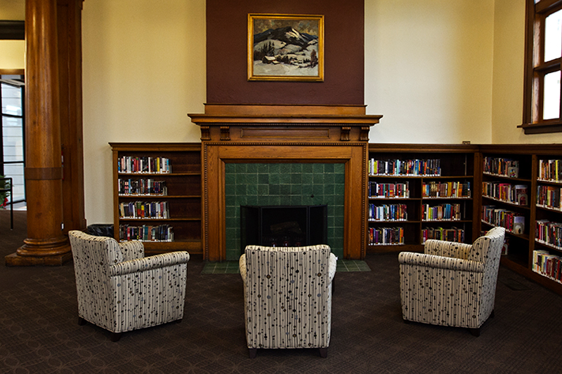 Lincoln Branch Carnegie Fireplace