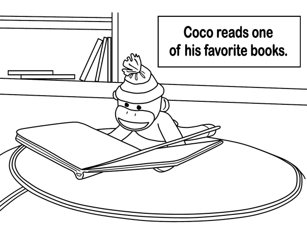 Coco Reads one of his Favorite Books