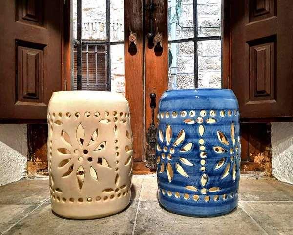 Lámpara calada cerámica Baeza