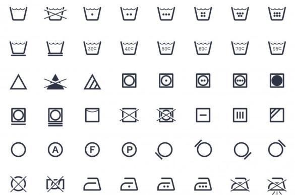 amplia selección precio barato venta usa en línea Qué significan los símbolos de lavado de las etiquetas de la ropa