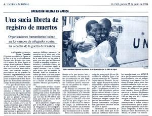 Recortes de El País. Artículos de José María Arenzana publicados en junio de 1994