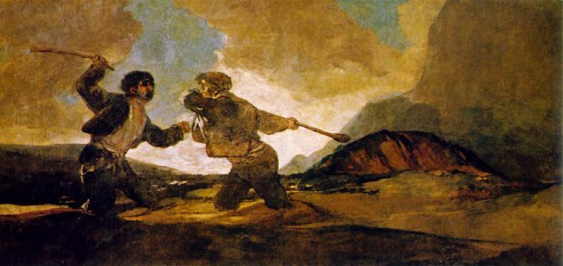 Duelo a garrotazos, de F. de Goya.