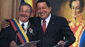 Raúl Castro y Hugo Chávez