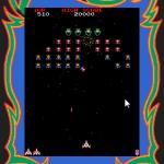 Galaga Palm OS  disparando en la formación alienígena