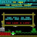 Magicland Dizzy ZX Spectrum  los huevos no parecen gustarle el agua...