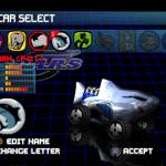S.C.A.R.S. PlayStation  coche Seleccione la pantalla