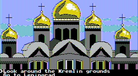 The Spy's Adventures in Europe Apple II  algunas cosas que hacer alrededor de Moscú (doble alta resolución)