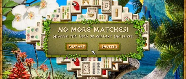 Tropico Jong Windows  si el juego está cerrado, se puede barajar de nuevo los azulejos