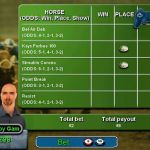 Casino Challenge PlayStation 2  The Horse Juego de carreras  Las teclas izquierda / derecha cambian la apuesta, CRUZ selecciona el token y las teclas D Pad lo colocan en la cuadrícula