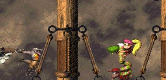 Donkey Kong Country 2: Diddy's Kong Quest SNES  montando este animal también le ayudará a saltar más alto