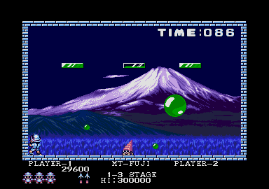 Buster Bros. Atari ST  a veces las criaturas aparece