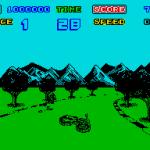 Enduro Racer ZX Spectrum  Rock puede derribarte de su bicicleta