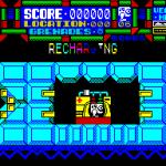 Scumball ZX Spectrum El juego comienza aquí. Una vez que LINDA termina de recargarse está lista para mover