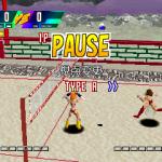 Chō Sentō KyÅ«gi Van Borg PlayStation  Pausa. Hay cinco vistas de cámara para elegir.